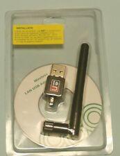 USB Wlan Wifi Wireless LAN Stick Dongle Adapter 300Mbit 300Mbps SMA + Antenne