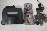 *Tested* Nintendo 64 N64 OEM Console Bundle w/ OEM Controler & Cables w/ 4 Games