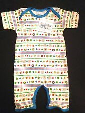 New Under the Nile Organic Cotton Short Sleeve Romper Size 12 months~Egyptian