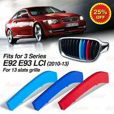 For BMW 3 Series E92 E93 LCI 10-13 Kidney Grille M Sport Color Cover Stripe Clip