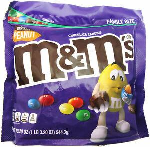 M&M's ~ Dark Chocolate Peanut ~ m and m ~ Candy ~ 19.20oz Family Size Bag