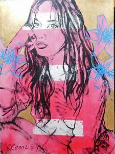 David Bromley Original Painting Acrylic on Canvas 120x90cm ZAPPORA  + CERT NUDE