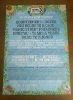 Kendal Calling 2019 Festival lineUp Large Flyer Tom Jones Courteeners 21x15cm