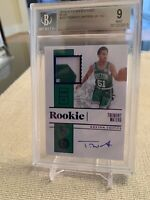 Tremont Waters ROOKIE PATCH AUTO RPA /3! 2019-20 Encased FOTL BGS 9 Celtics RC