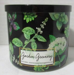 White Barn Bath & Body Works 3-wick Large Jar Scented Candle GARDEN GREENERY