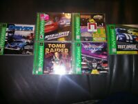 🔥LOT OF 6 COMPLETE Playstation 1 PS1 video games!NFLBLITZ,NFS,TOMB GREATESTHITS