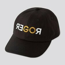 RARE BNWT Roger Federer GOROGER SHANGHAI 19 Uniqlo Black Tennis Cap Hat!
