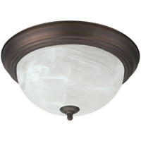 Home Impressions 15 In. Oil Rubbed Bronze Incandescent Flush Mount Ceiling Light