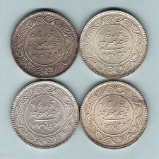 New listing India - Kutch. Silver 5 Kori:1930, 1937 x2 & 1938. Unc - Choice Unc (4 Coins)