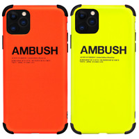 AMBUSH Neon Phone Case Cover For Apple iPhone 11 Pro Max XS XR X 8 7 Plus SE