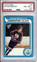 Wayne Gretzky 1979-80 Topps RC Rookie Card Graded PSA 8.5 NM-MT+ Oilers #18