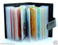 Genuine Leather Soft BLACK Credit Card Holder Case Wallet For Mens Womens - 210