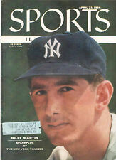 """1956--SPORTS ILLUSTRATED--NY YANKEE """"SPARKPLUG"""" BILLY MARTIN ON COVER--XLNT+"""