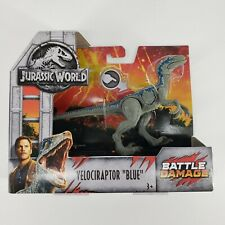 "Jurassic World Battle Damage Velociraptor ""Blue"" Fallen Kingdom Figure - NEW!"