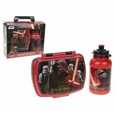 Official Disney Star Wars The Force Awakens Lunch Box & Water Bottle Set **NEW**