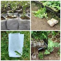 100pcs Plant Fiber Nursery Pots Seedling Raising Bag Plant Holder Garden