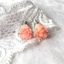 flow 00004000 er floral pink rose petals stud earrings new jewellery day 1cm