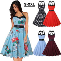 Vintage Style Women 50'S Swing Retro Housewife Party Rockabilly Cocktail Dresses