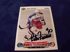 PETER FERRARO AUTOGRAPHED 1991-1992 UPPER DECK ROOKIE CARD-TEAM USA