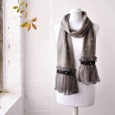 Écharpes et châles vintage gris