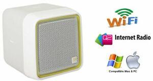 Q2 Internet Radio – white. Amazing little Wi-Fi radio! wifi