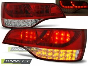 LED Taillights For AUDI Q7 06-09 RED WHITE LED