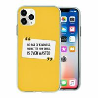 Silicone Phone Case Back Cover Peace Yellow Quote - S1781