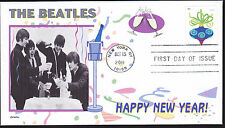 THE BEATLES   HAPPY NEW YEAR   CELEBRATION  CHAMPAGNE    FDC- DWc CACHET