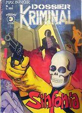 KRIMINAL DOSSIER N.1 CORNO FUMETTO MAX BUNKER MAGNUS