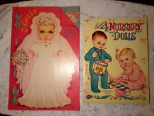 Set of Vintage Cut-Out, Paper Dolls Whitman 1992-59, Queen Holden 1181-15