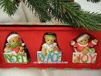 Cherished Teddies Ornaments 2009 Joy, Noel and Peace  Set of 3 NIB