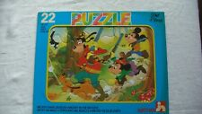 Puzzle Nathan 22 pièces vintage 1986 Disney Mickey dans les bois