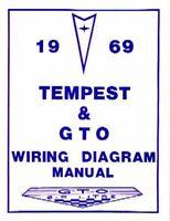 1969 69 Gto Tempest Wiring Diagram Manual Ebay