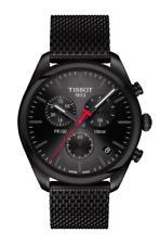 new authentic TISSOT PR 100 CHRONOGRAPH black mesh band watch T101.417.33.051.00
