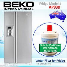 BEKO AP930 Fridge 4830310100 UKF7003AXX Water Filter REPLACEMENT AQUA BLUE H2O