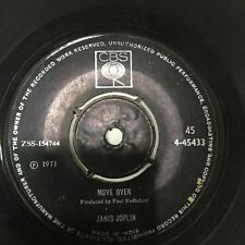 """JANIS JOPLIN move over/get it while you can 45 7"""" RARE SINGLE INDIA INDIAN VG"""