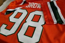 #00 Miami College Orange FOOTBALL JERSEY Your Name&Number-SEWN-ON.