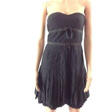 $398 Marc by Marc Jacobs Dress Size 0 Black Silk Strapless Fit Flare Babydoll