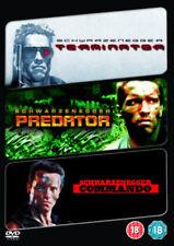 Terminator/ Predator/ Commando (DVD, 2009, 3-Movie Set) NEW SEALED PAL Region 2