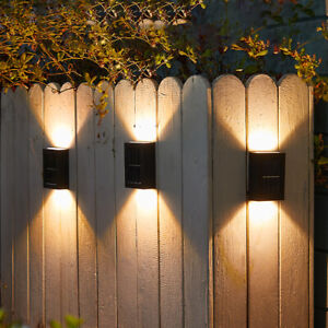 1-4pcs Outdoor Solar LED Deck Lights Path Garden Patio Pathway Stairs Fence Lamp
