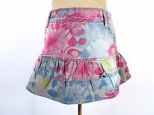ONLY Womens Ultra Mini Skirt Floral Print Ruff Frill Casual Cotton sz 36 M BB85
