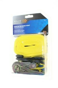 POLCO QUICK LOCK TIE DOWN STRAP 1 X 5m RATCHET WITH HOOKS 225kg 4 TRAILERS NEW