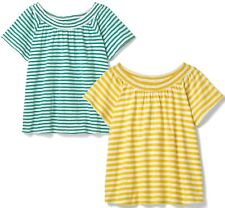 Lovely WHITE STUFF Casual Bardot Striped 100% Cotton Jersey Top Tee T Shirt 6-18