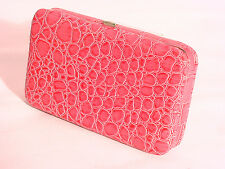 SNAKE SKIN EMBOSSED IPHONE 4/4S/5 CASE WITH CREDIT CARD SLOTS #8309 #PINK
