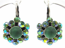 SoHo® Ohrringe Ohrhänger geschliffene Kristalle peridot aurore boreale 1960´s
