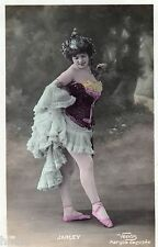 BE355 Carte Photo vintage card RPPC Femme woman Jarley Venus mode fashion robe