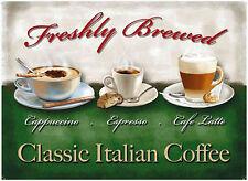classique Italien Café GRAND PANNEAU EN ACIER 400mm x 300mm (OG)