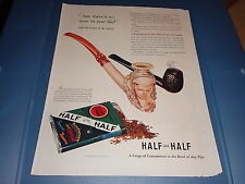 """1941 Lucky Strike Half and Half Tobacco Vintage Magazine Ad """"but there's no man"""""""
