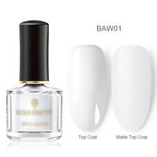 BORN PRETTY 6ml White Black Nail Polish Peel Off Glitter Matte Nail Art Varnish