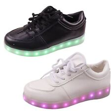 Zapatos Unisex USB LED Luces Luminoso Sportswear Hombres Mujeres Con Cordones Casual Zapatillas